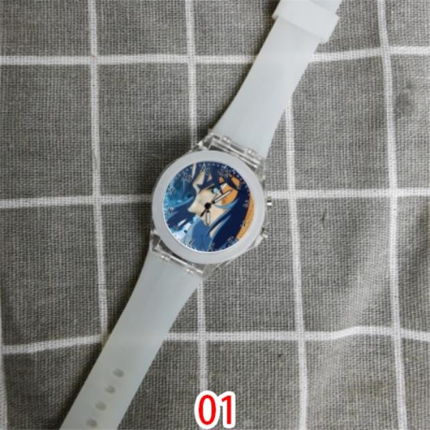 加隆(圣斗士星矢)夜光手表可爱七彩发光LED硅胶学生手表 1570
