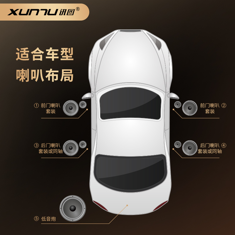 Xuntu car power amplifier DSP audio processor car non-destructive audio million subsidies magic sound box MB460