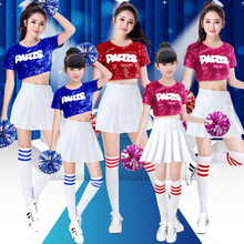 New youth and vitality primary and secondary school students cheerleading performance clothes short adult children cheerleading performance dance clothes