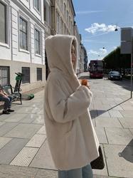 貂皮大衣女整貂2020年秋冬季新款中长款年轻款连帽仿皮草廓形外套
