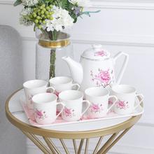北欧式陶瓷茶壶茶杯套装家用耐高温过滤客厅冷水壶水杯婚庆茶具