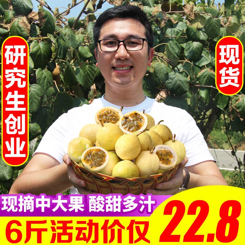 福建黄金百香果6斤装当季白香果5包邮x热带水果整箱西番莲大果10