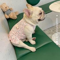 法斗衣服胖狗巴哥斗牛犬全棉兔子卡通可爱裙子舒适背心小型犬宠物