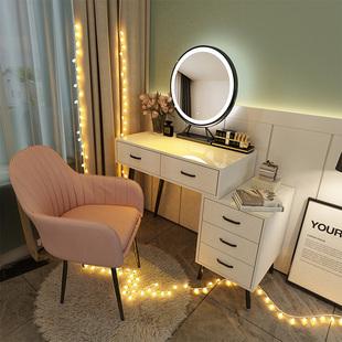 北欧轻奢梳妆台网红ins风化妆台梳妆桌子化妆桌卧室现代简约带灯图片