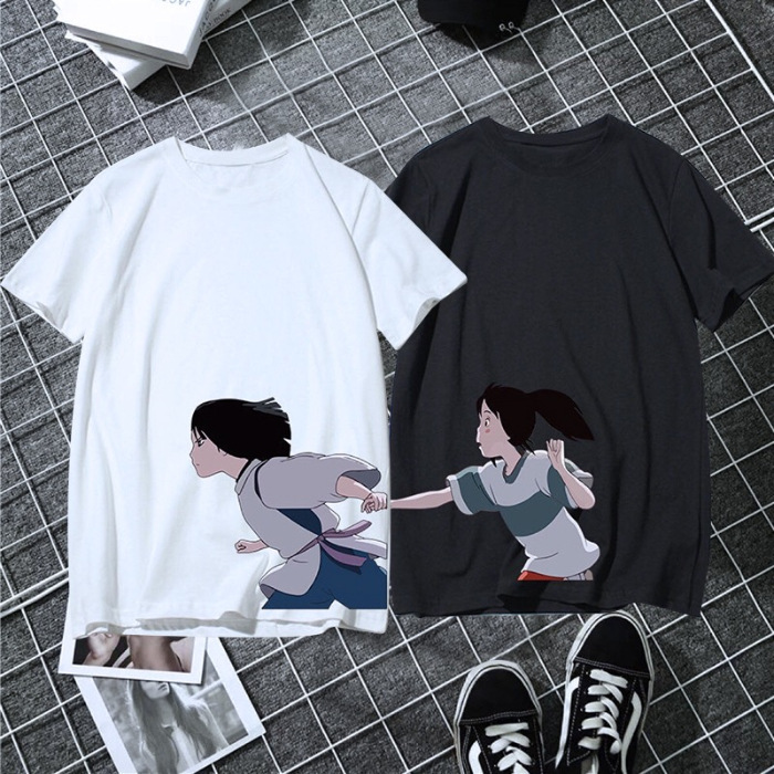2019 womens wear thousand and one thousand find lovers T-shirt summer ins small crowd design loose white dragon short sleeve class clothes
