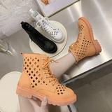 马丁靴凉鞋女2020年新款夏季靴子女短靴透气网靴镂空靴高帮凉靴女