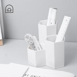 栋哈 宿舍生活用品桌面笔筒笔座多功能收纳化妆刷杂物整理收纳桶