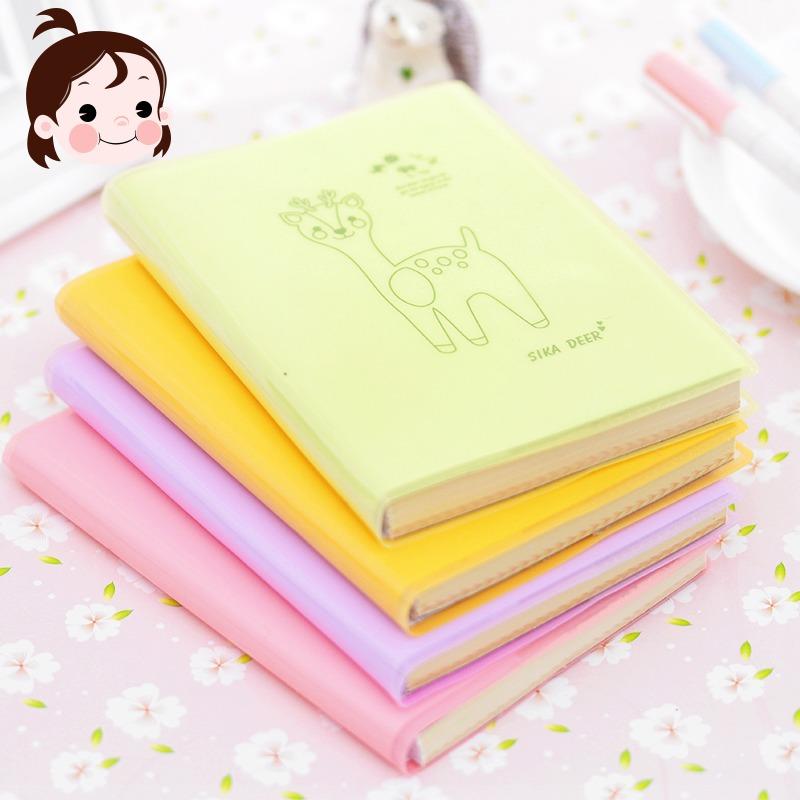 筆記本隨身小學生日記本 韓國創意文具批發記事本膠套本便攜本子