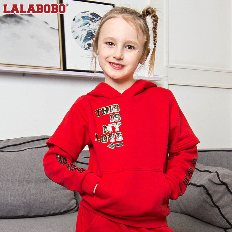 Labobo childrens clothes 2018 spring cute new year fortune sweater medium size childrens pullover | l01d-kzts14