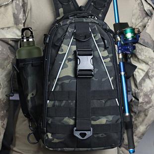 路亚包斜挎单双肩两用多功能户外钓鱼腰包战术背包小胸包男大容量