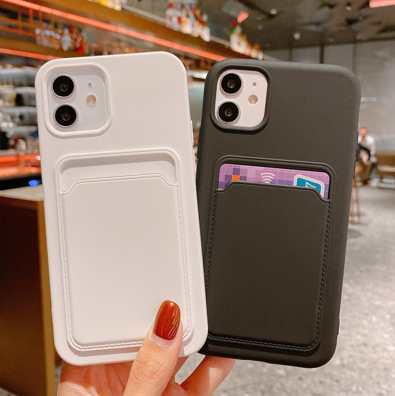 苹果12手机壳卡包iphone11带卡套x一体xsmax背贴xr创意pro可s插卡片8plus放卡7p白mini零钱包se女6s收纳pm套6
