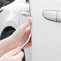 汽车车门边防撞条保险杠后视镜防刮装饰胶轮廓防擦条开门防磕碰贴