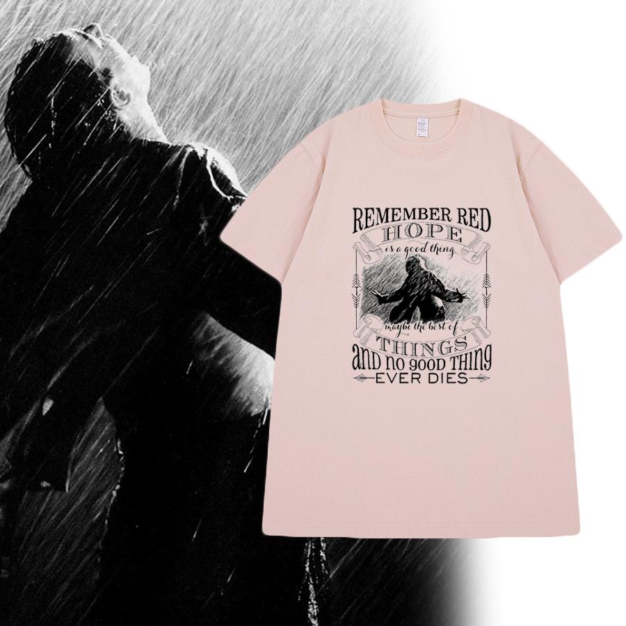 Shawshank Redemption movie classic American prison break retro mens and womens Short Sleeve T-Shirt