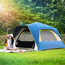 Fully automatic outdoor camping with donkey shield tent