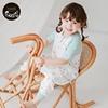 Nest Designs婴儿睡袋春夏新品四层纱布短袖拼接分腿宝宝防踢被