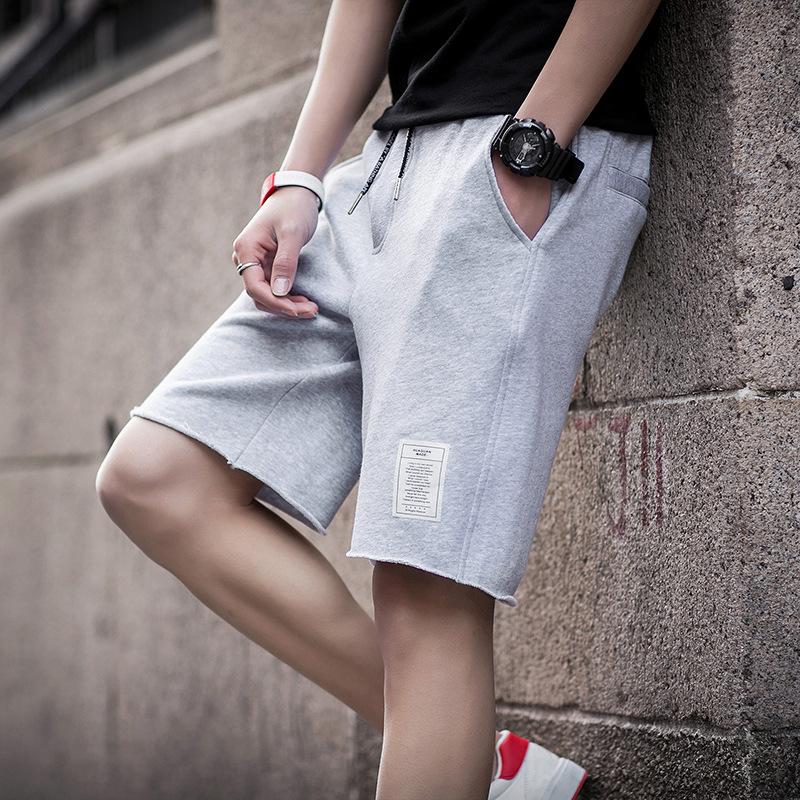 2019夏季新款薄款纯色男士休闲短裤青少年潮流宽松五分裤韩版运动