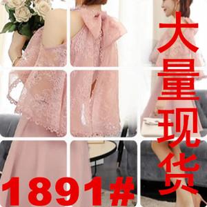 蝶依2018新款夏季仙女装中长韩版时尚修身显瘦收腰蕾丝温柔连衣裙