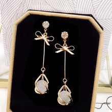 Skinny Cat's Eye Stone Earrings