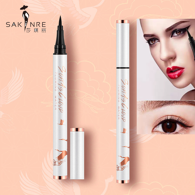 Tiktok, the same eye liner, ball, steel, pearl, and pearl, like a pen, waterproof, fast drying, and no iron coating.