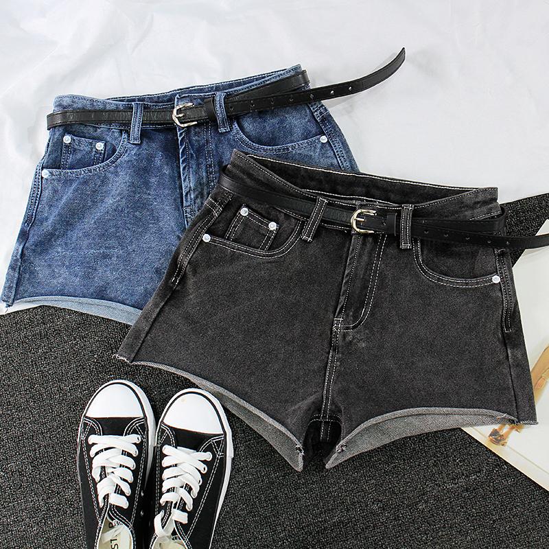 (用100元券)佳妲己水洗卷边牛仔短裤女风打底裤