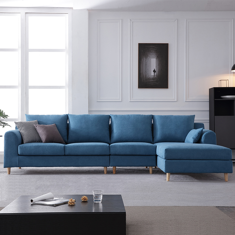 Nordic simple sofa light luxury small family living room modern style latex fabric sofa combination furniture