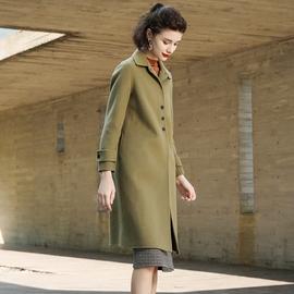 乔妮塔品牌女装2021秋冬季新款羊毛呢子中长款双面呢羊绒大衣外套图片