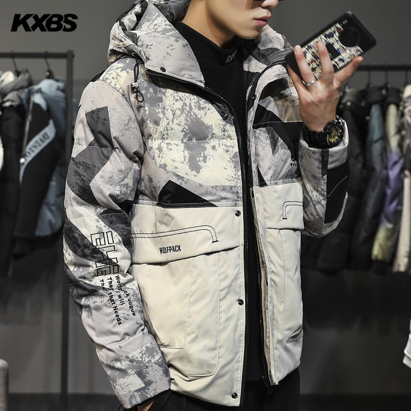 Cotton padded mens new 2019 splicing jacket Youth Popular jacket Japanese down cotton jacket Korean loose cotton padded jacket