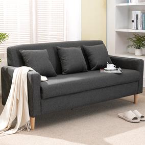 布艺沙发简约现代小户型公寓沙发北欧懒人单人双人卧室客厅家用