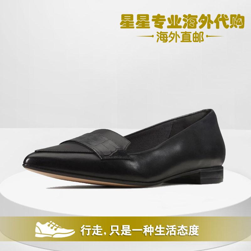 Clarks其乐2020春夏新款女鞋尖头真皮女鞋Laina15 Loafer正品代购