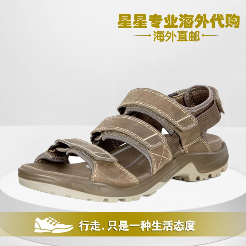 ECCO爱步新款休闲透气缓震舒适魔术贴凉鞋822134代购