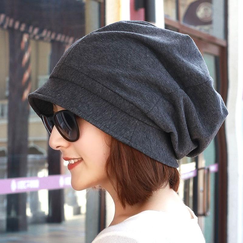 渔夫帽棉质日系百搭大码月子帽布帽