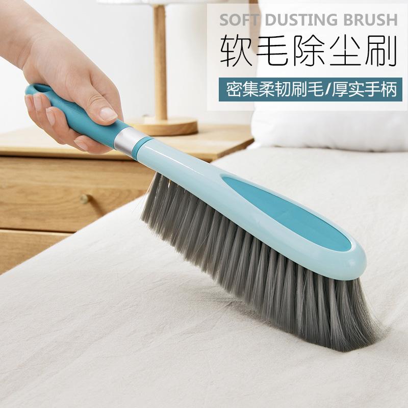 家用长柄扫床刷子家用素色床上清洁刷笤帚大号软毛沙发地毯除尘刷