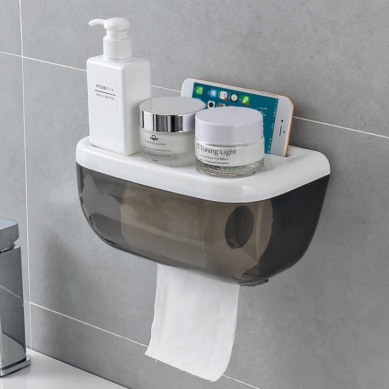 9.60元包邮卫生间防水厕所卷纸筒手纸盒置物架