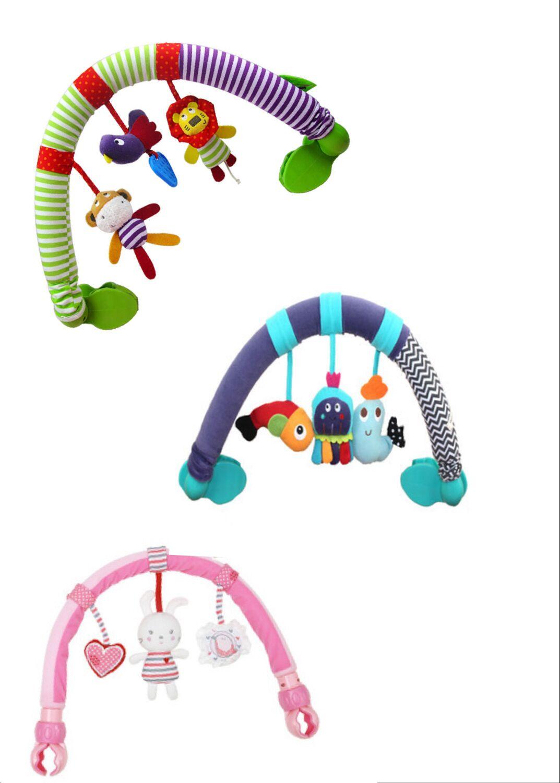 Sozzy кролик слон арки клип коляски автомобилей музыки ткань кроватка подвесные кровати Белл игрушки