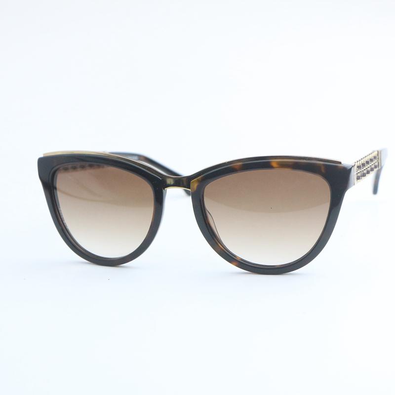 豹纹棕色板材女士款太阳眼镜5361Q时尚百搭墨镜