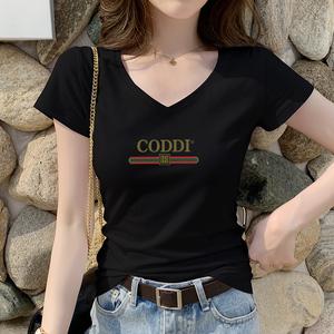 短袖黑色修身短款2021年新款潮t恤