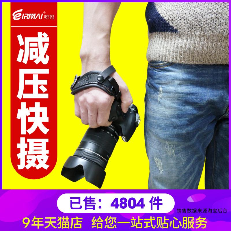 锐玛相机手腕带for佳能单反5D2 5D3 5D4 6D2 7D2 D7500 D750 D850 D810宾得索尼A7R2 A7M2 A7M3松下富士