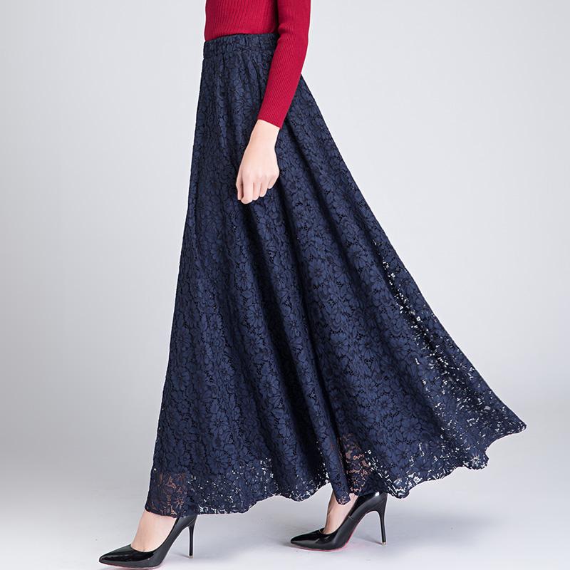 春季蕾丝高腰广场舞网纱长款半身裙五折促销