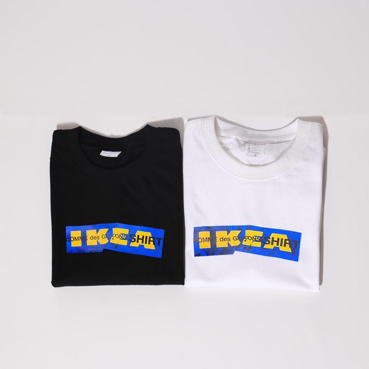 恶搞宜家t恤CDG SHIRT Box Logo Tee 联名款 圆领短袖 褶皱男女潮