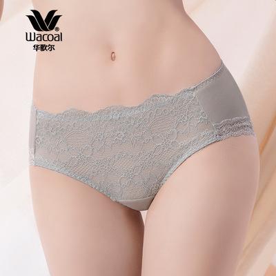 华歌尔Wacoal 魅丽3D 棉氨蕾丝 平角裤 内裤 WP2239