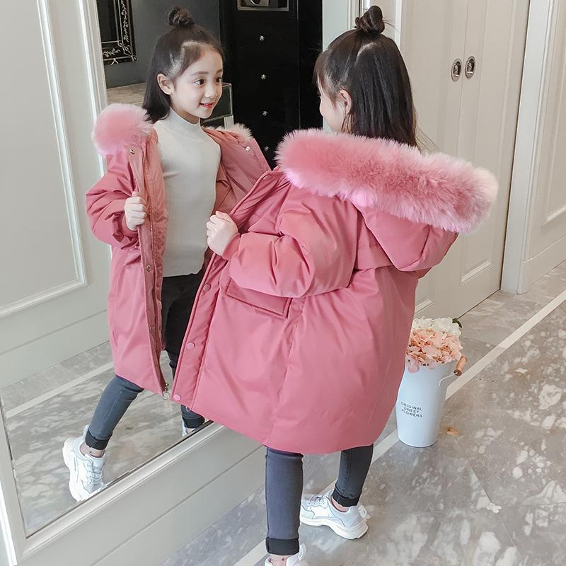 女童棉衣2018新款韩版洋气儿童棉服中大童秋冬季中长款棉袄外套潮