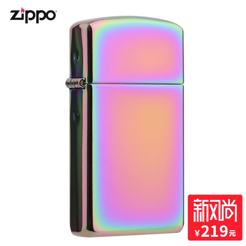 打火机zippo正版zippo正品旗舰店原装纤巧金幻彩海外直邮20493