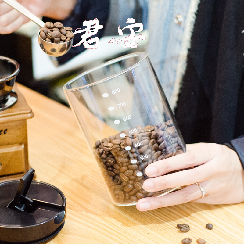 Coffee beans sealed jar high borosilicate glass kitchen food cereals and grains milk powder tea storage containers