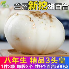 甘肃兰州新鲜百合500克纯农家天然食用生甜百合非特级百合干包邮图片