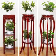 室内花架子花盆架客厅实木花架中式落地单个盆栽架子家用置物花凳
