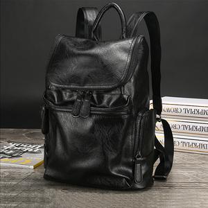 新款真皮双肩包男头层牛皮笔记本背包商务中年男士书包旅行包男包