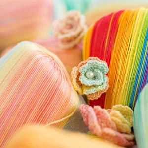 苏苏姐家段染蕾丝线棉手工diy包包