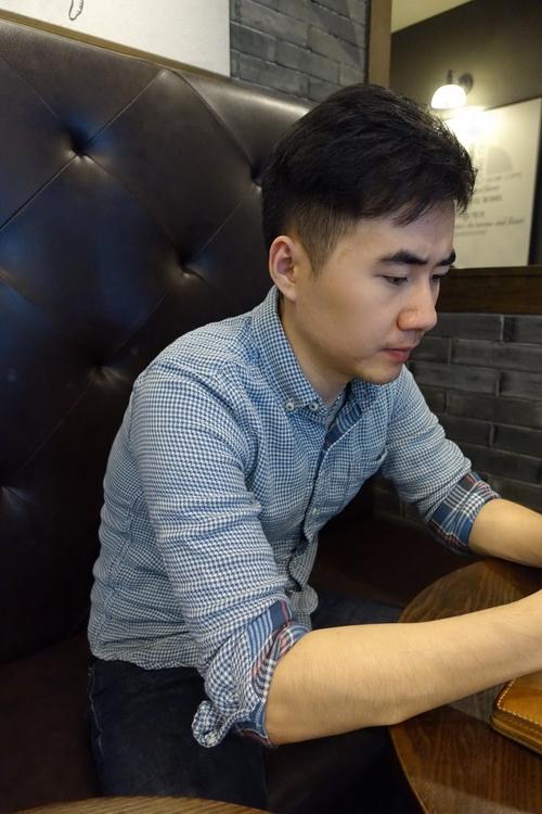 小溪原创春秋男士长袖修身格子衬衫券后118.00元