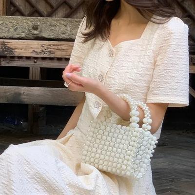 艺格服装女士裙子连衣裙茶歇裙盐系套装新款温柔长裙法式初恋舒适