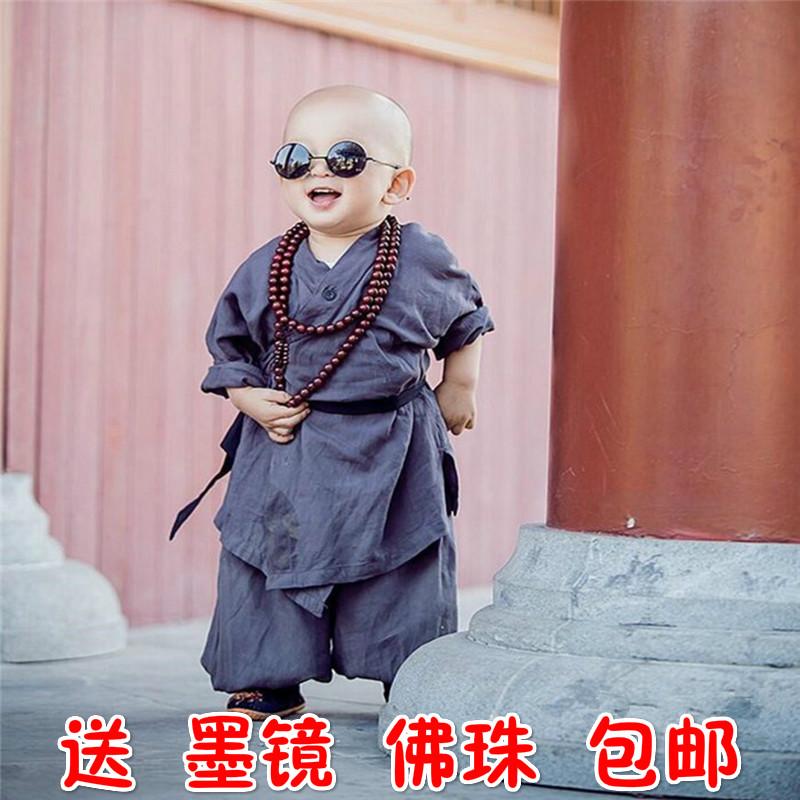 宝宝僧袍小和尚装周末旅游和尚服